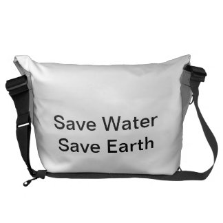 Save Water Bag Courier Bags