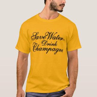 Save Water bebida Champagne Playera
