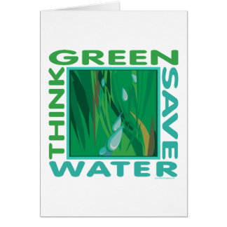 Save Water Card
