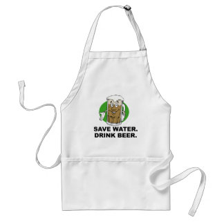 SAVE WATER. DRINK BEER. ADULT APRON