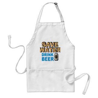 Save Water Drink Beer Adult Apron