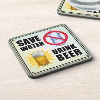 Save Water - Drink Beer Beverage Coaster