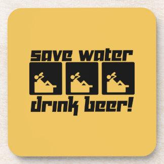 Save Water Drink Beer! Beverage Coaster