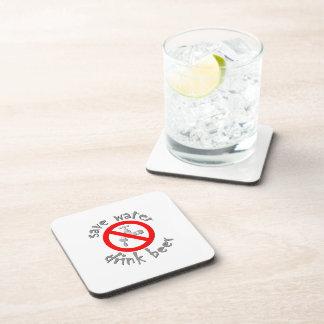 Save Water Drink Beer Funny Drinking Design Beverage Coaster