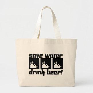 Save Water Drink Beer! Large Tote Bag