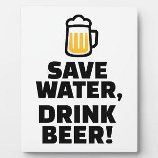 Save water drink beer display plaques