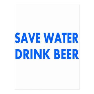 Save Water-Drink Beer Postcard