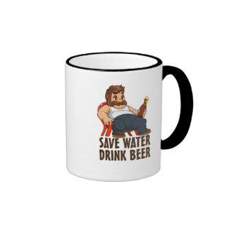 Save Water Drink Beer Ringer Mug