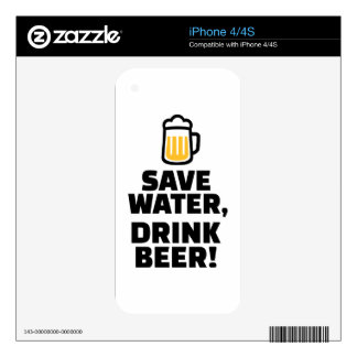 Save water drink beer iPhone 4S decal