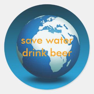Save water drink beer - Sticker