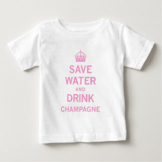 save water drink champagne baby T-Shirt