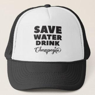 Save Water, Drink Champagne Trucker Hat