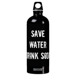 save water drink soda aluminum water bottle