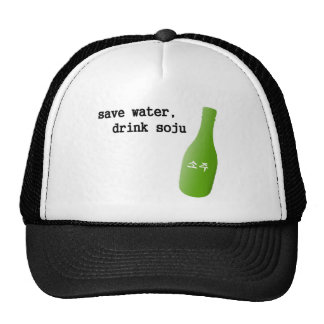 Save water, drink Soju! Hats