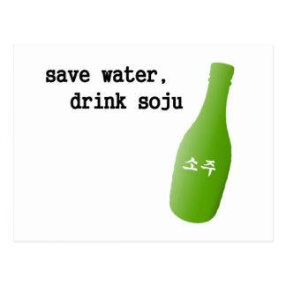 Save water, drink Soju! Postcard