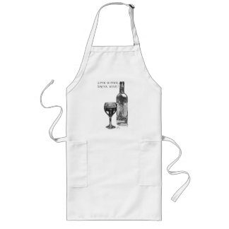 Save Water, Drink Wine! Long Apron