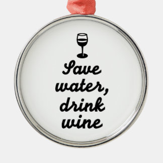 Save water drink Wine Ornament