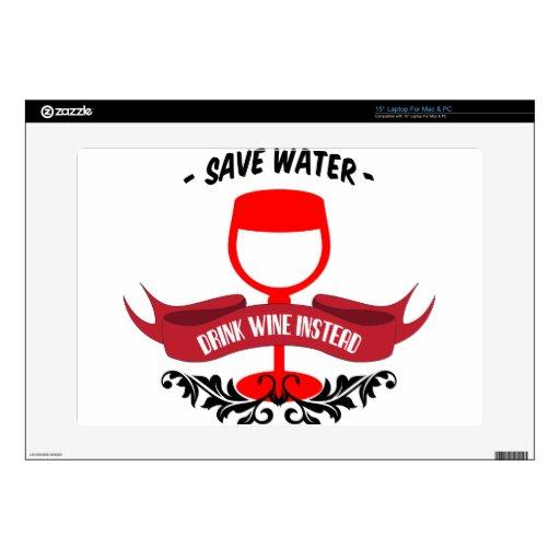 Save Water Drink Wine Laptop Skin
