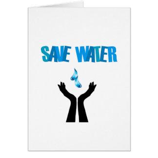 Save water- hands saving water card