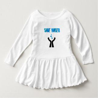 Save water- hands saving water dress