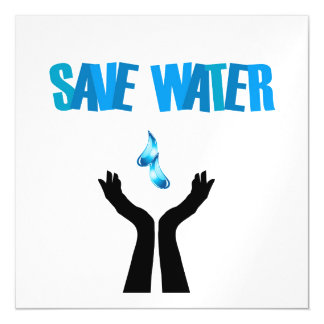 Save water- hands saving water magnetic card