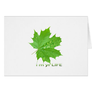 save water-i m yr life greeting cards