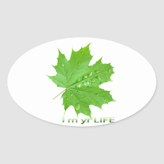 save water-i m yr life oval sticker