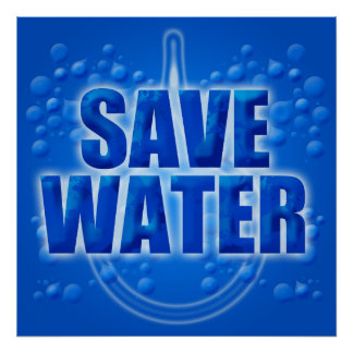 Save Water Illustration Poster