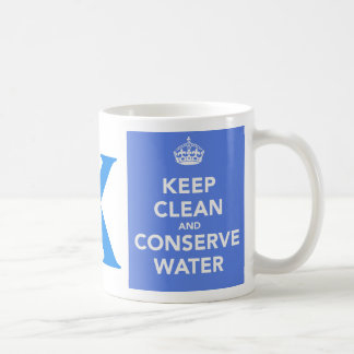 Save Water Letter X Mugs