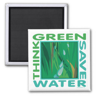 Save Water 2 Inch Square Magnet