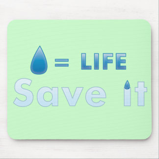 save water mouse pads