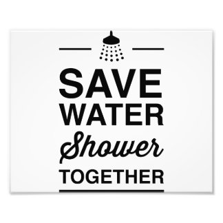 Save Water Photo Print