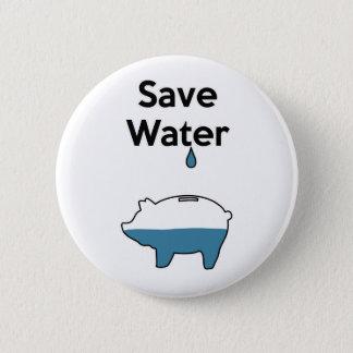 Save Water Pinback Button