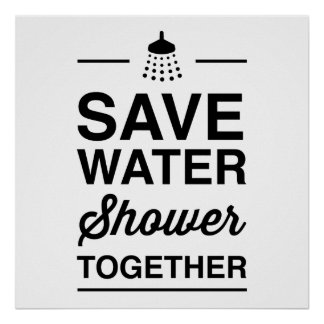 Save Water Poster