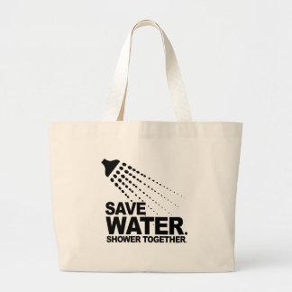 SAVE WATER. SHOWER TOGETHER. BAG