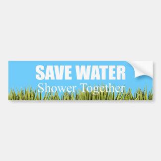 Save water. Shower together. Bumper Sticker