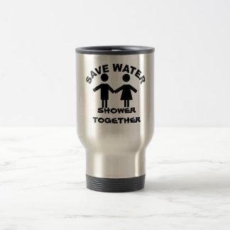 Save water shower together coffee mug