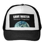 Save water. Shower together. Mesh Hat
