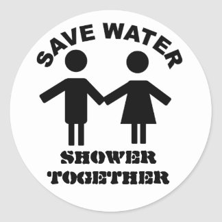 Save water shower together sticker