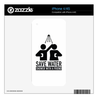 Save Water Shower With A Friend Decal For The iPhone 4S