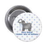 Save Water Shower with An Elephant Pinback Buttons