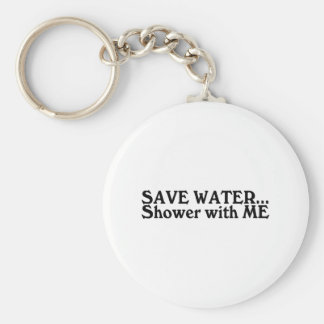 Save Water Shower With Me Basic Round Button Keychain