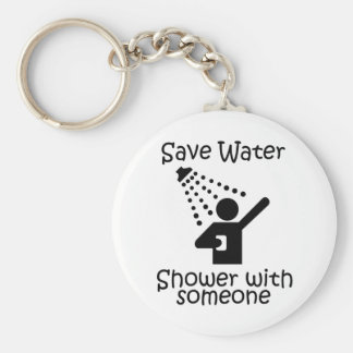 Save water shower with somene key chains