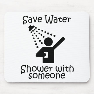 Save water shower with somene mousepads