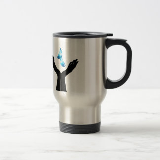 Save water travel mug