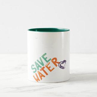 save water Two-Tone coffee mug
