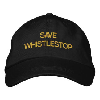 Save Whistlestop - Customizable Cap by eZaZZleMan Embroidered Baseball Caps