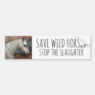 Save Wild Horses Stop The Slaughter Bumper Sticker