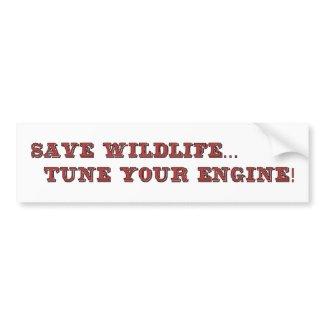Save wildife bumpersticker
