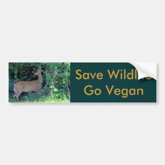 Save Wildlife Go Vegan Bumper Stickers